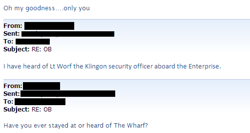 email exchange between coworkers