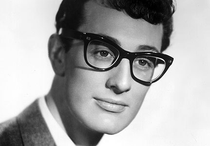 Buddy Holly wearing wayfarers