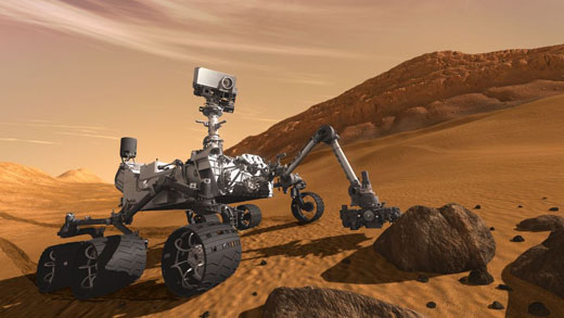 Conception of the Curiousity Mars Rover