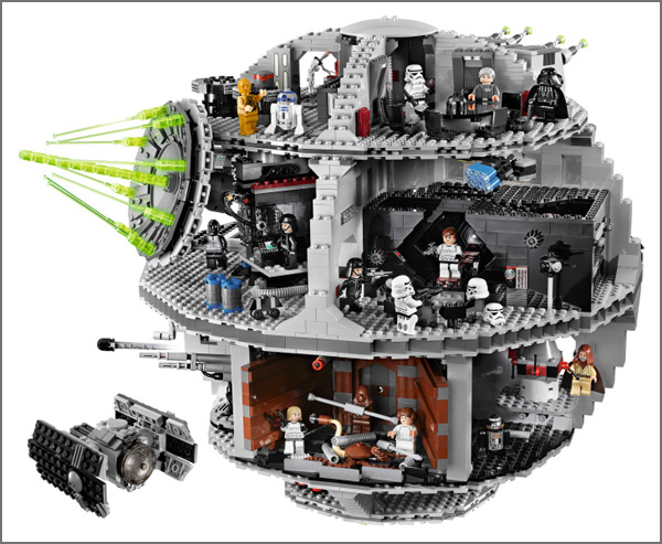 Lego Death Star from the Star Wars Movies