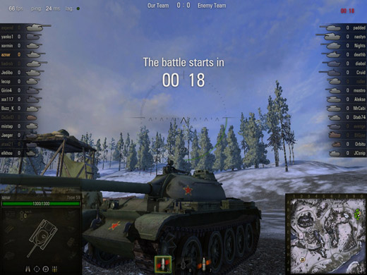 Countdown until World of Tanks Game Begins