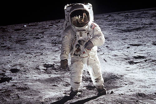 Space Suit on the Moon