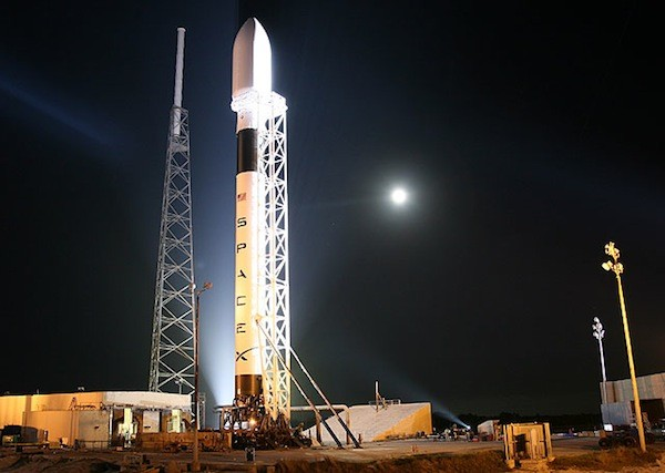 SpaceX Falcon on the Launchpad