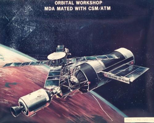 Orbital Workshop Spacecraft Conceptual Drawing